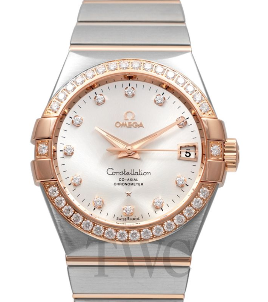 Omega Constellation Co-Axial with Diamonds