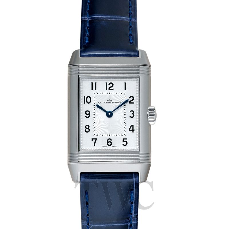 Jaeger-LeCoultre Reverso, Swiss Made Watch, Blue Strap, Analogue Watches For Women, Leather Watch, Silver Bezel