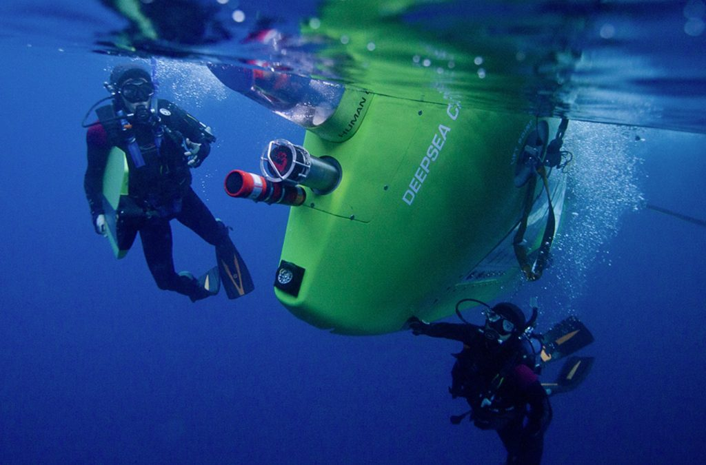 Rolex Deepsea Challenge with filmmaker James Cameron, Deep-sea Diving, Ocean, Underwater, Snorkelling