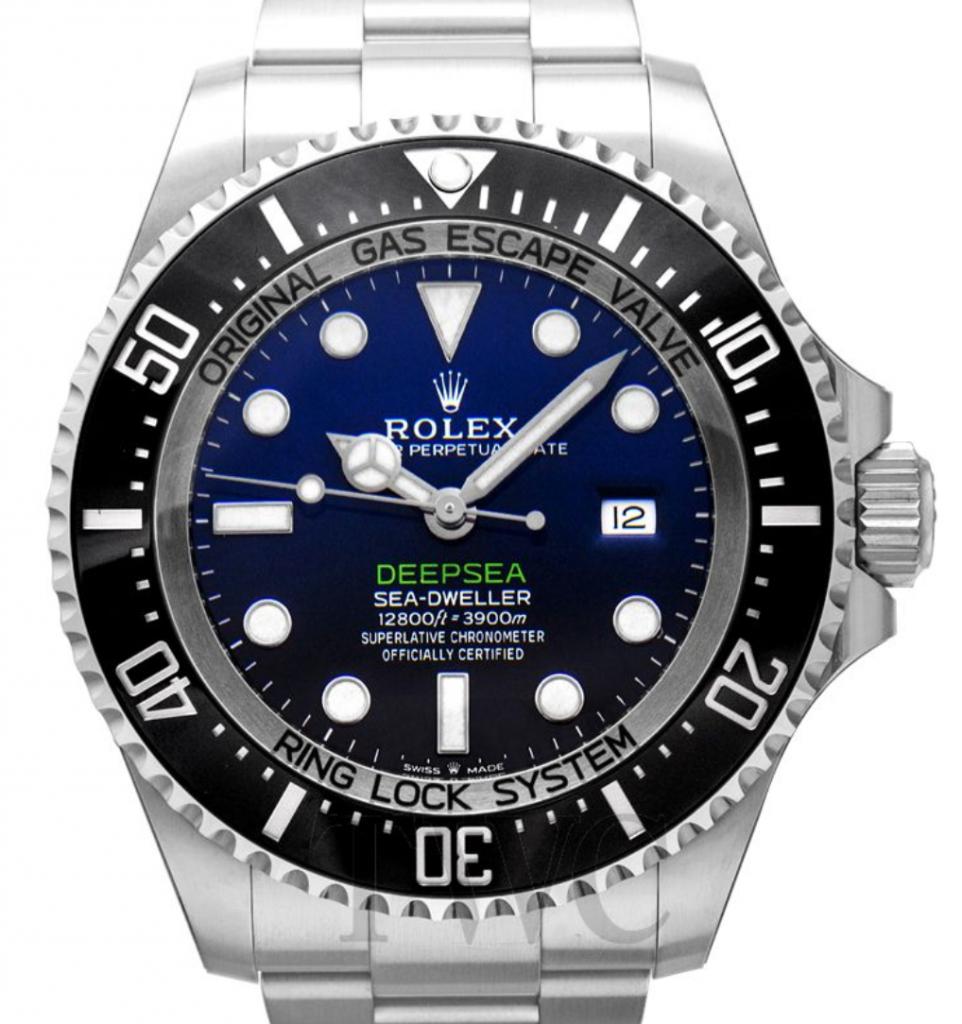 Rolex Deepsea Sea-Dweller, Omega Vs. Rolex, Blue Watch Face, Date Display, Silver Watch, Automatic Watch