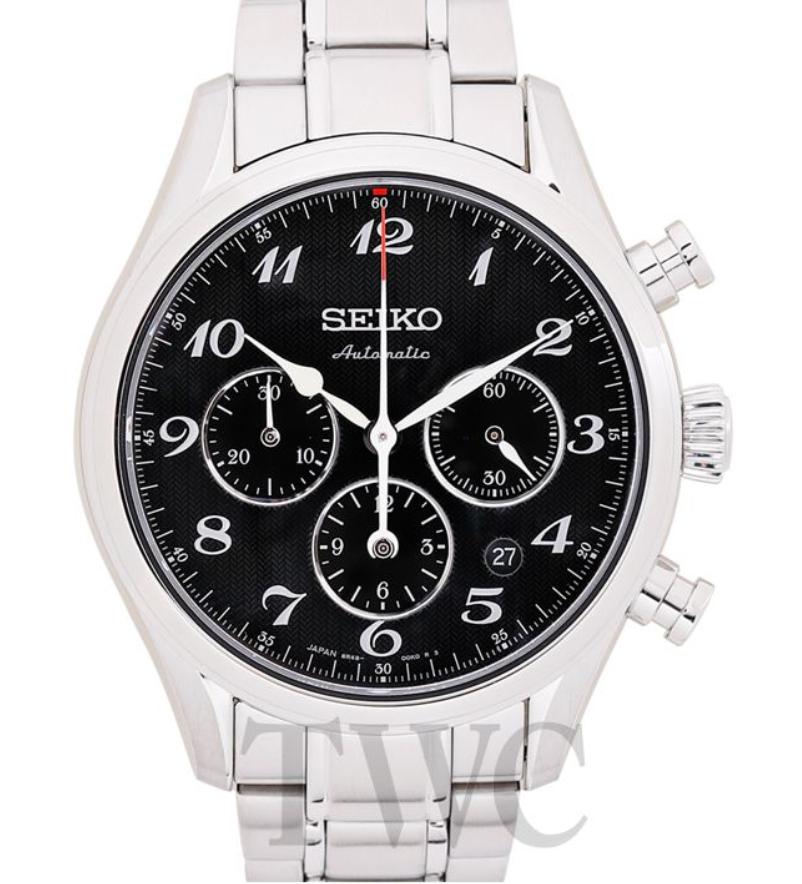 Seiko Presage SARK009, Automatic Watch, Japanese Watch, Black Watch Face, White Watch