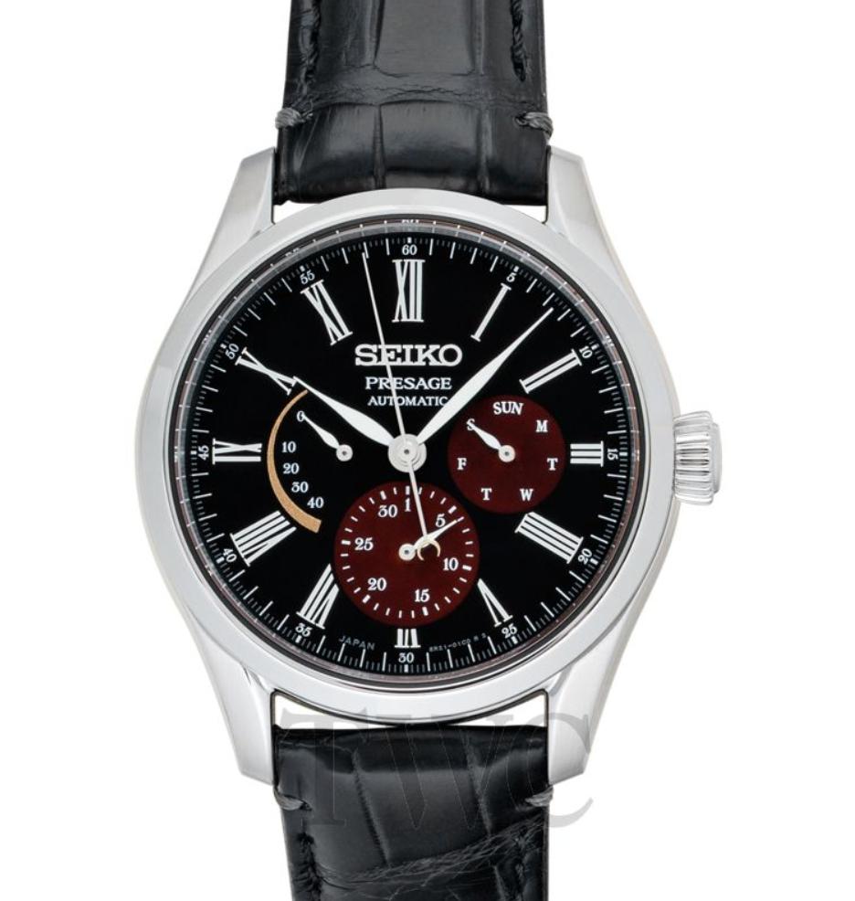Seiko Presage SARW045, Automatic Watch, Black Watch Face, Leather Watch, Japanese Watch