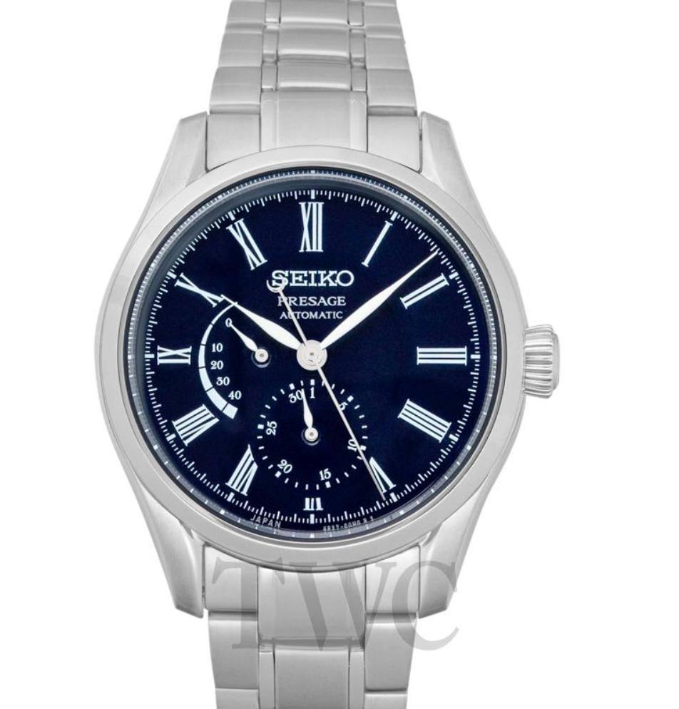 Seiko Presage SARW047, Japanese Watch, Silver Watch, Automatic Watch, Leather Watch