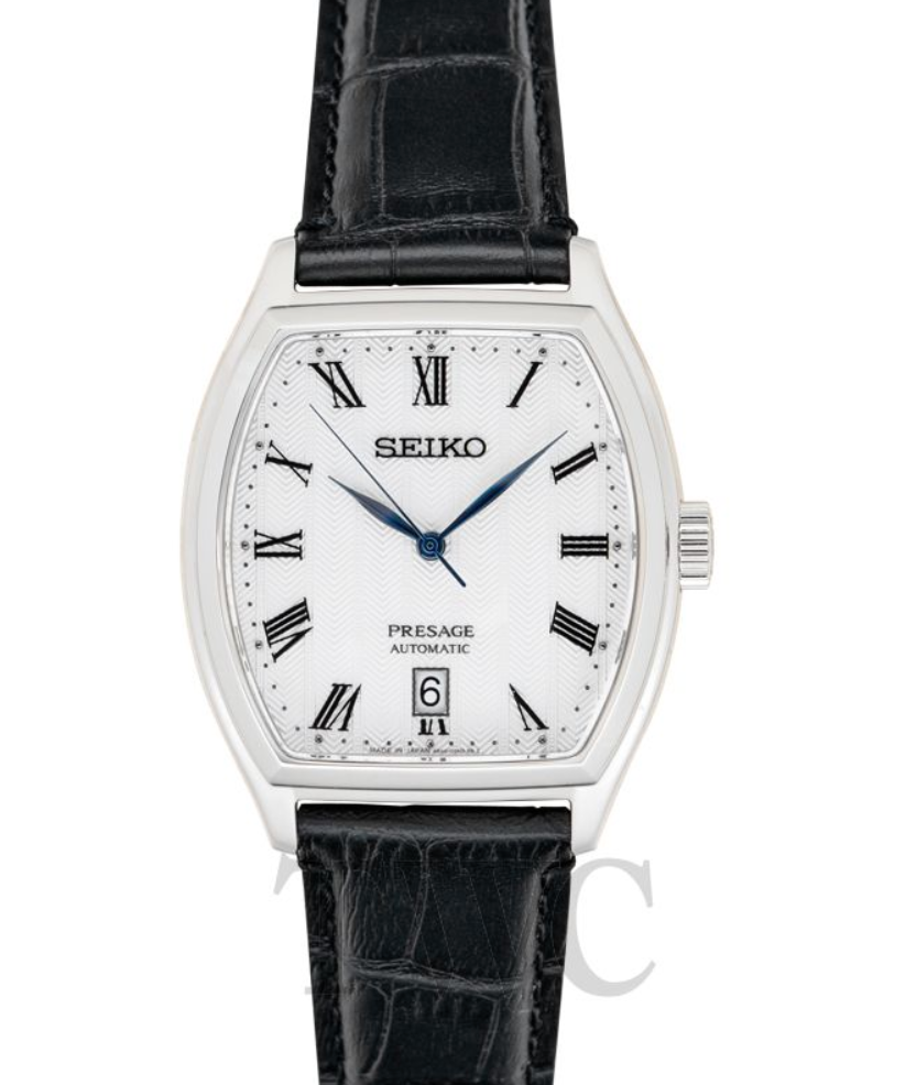Seiko Presage SARY111, Japanese Watch, White Watch Face, Leather Watch, Automatic Watch
