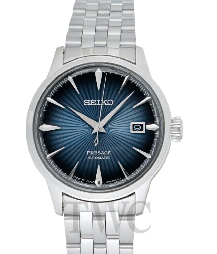 Seiko Presage SARY123, Automatic Watch, Date Display, Japanese Watch, Silver Watch, Automatic Watch