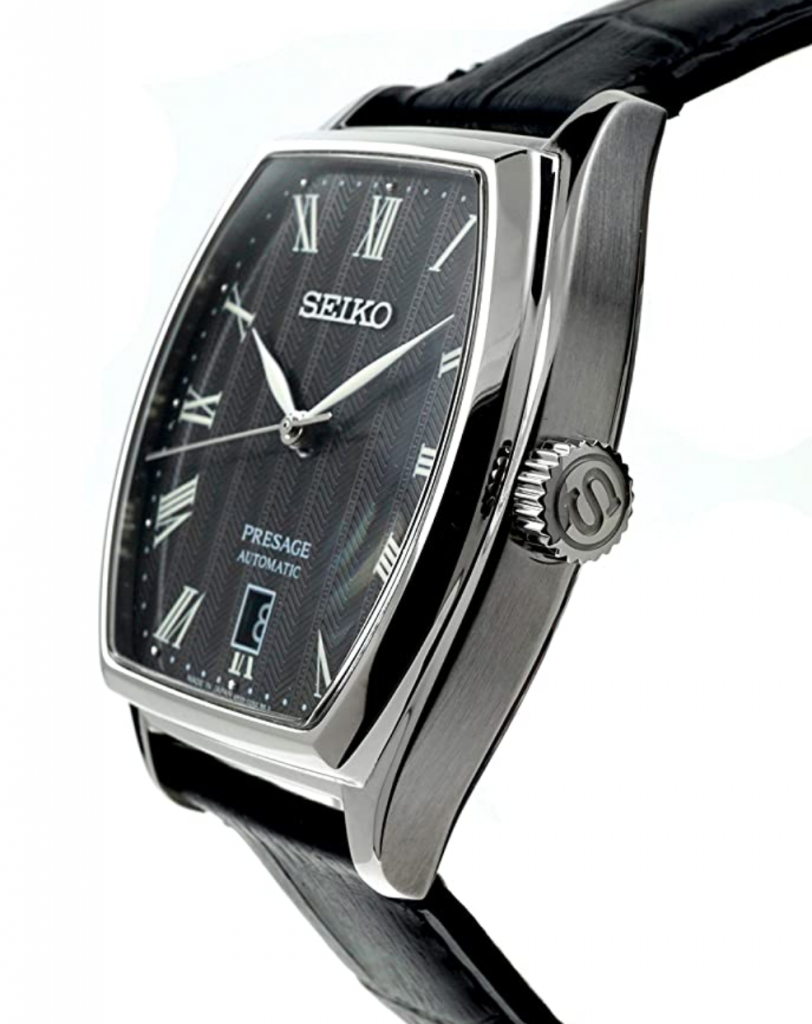 Seiko Presage SRPD07J1, Seiko Dress Watches, Automatic Watch, Japanese Watch, Unique Bezel