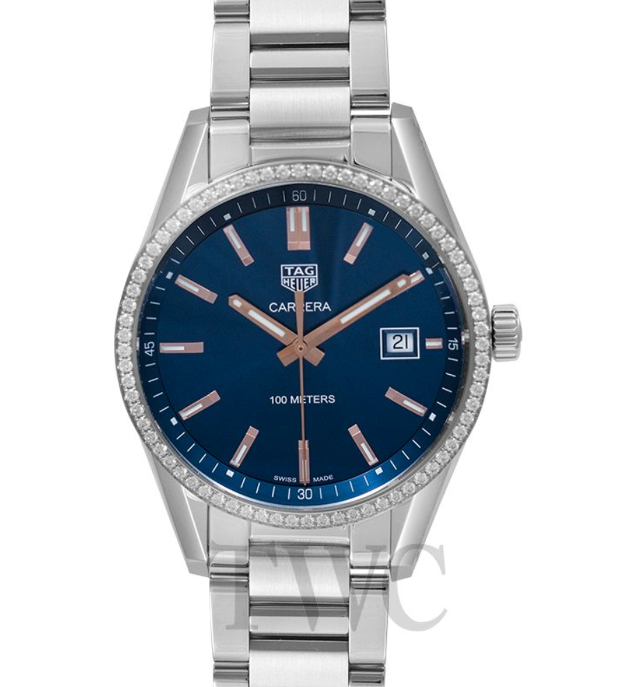 TAG Heuer Carrera Ladies Quartz Blue Dial, Steel Watch, Date Display, Blue Watch Face, Swiss Watch