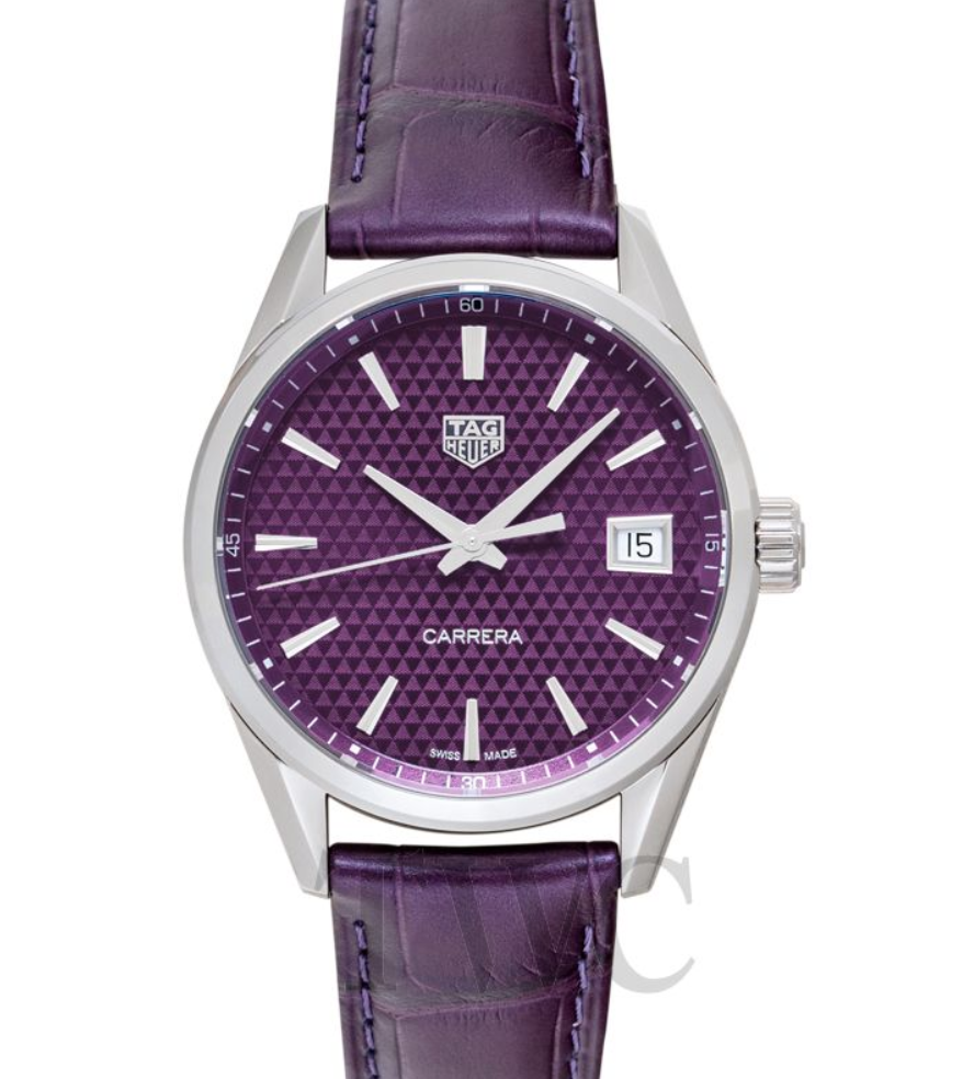 TAG Heuer Carrera Ladies Quartz Purple Dial, Luxury Watch, Automatic Watch, Date Display, Swiss Watch