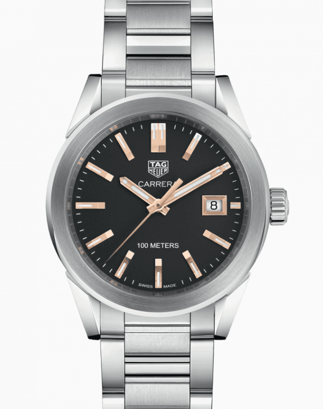 TAG Heuer Carrera Quartz Black Dial, Silver Watch, Swiss Watch, Luxury Watch, Date Display