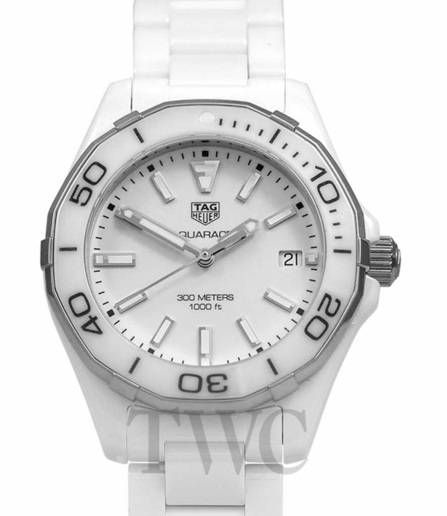 Tag Heuer Aquaracer, White Watches For Women, Dive Watch, Date Display, Automatic Watch