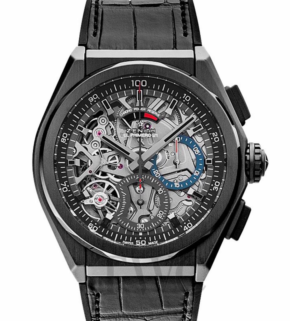 Zenith Defy El Primero 21 Chronograph Skeleton, Black Watches For Men, Swiss Made Watch, Skeleton Watch, Luxury Watch