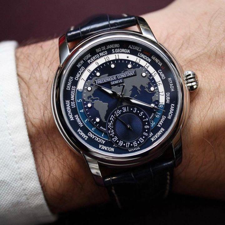 Frederique Constant Worldtimer, Luxury Watch, Swiss Watch, Unique Watch