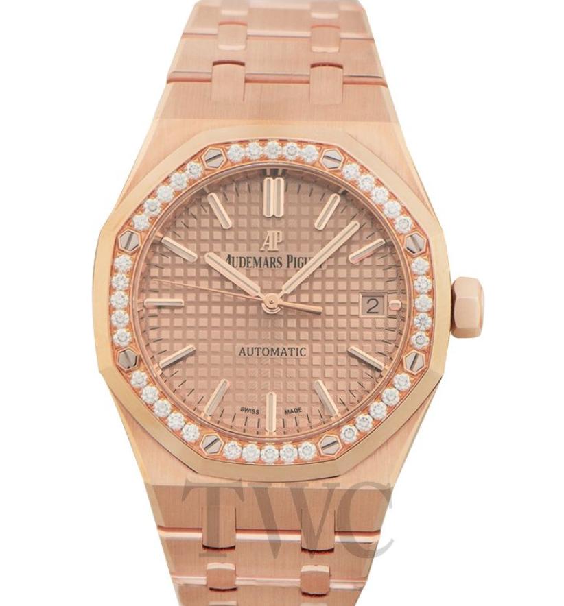 Audemars Piguet Royal Oak, Best Rose Gold Watch for Women, Audemars Piguet Royal Oak Gold Watch