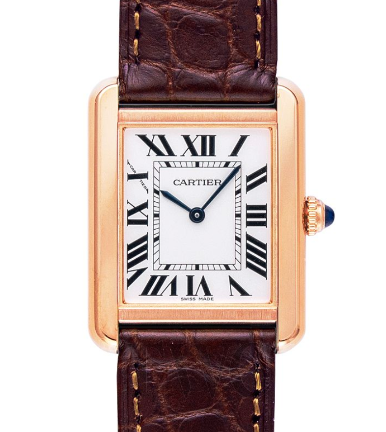 Cartier Tank Solo in Rose Gold, Best Quartz Watches for Women