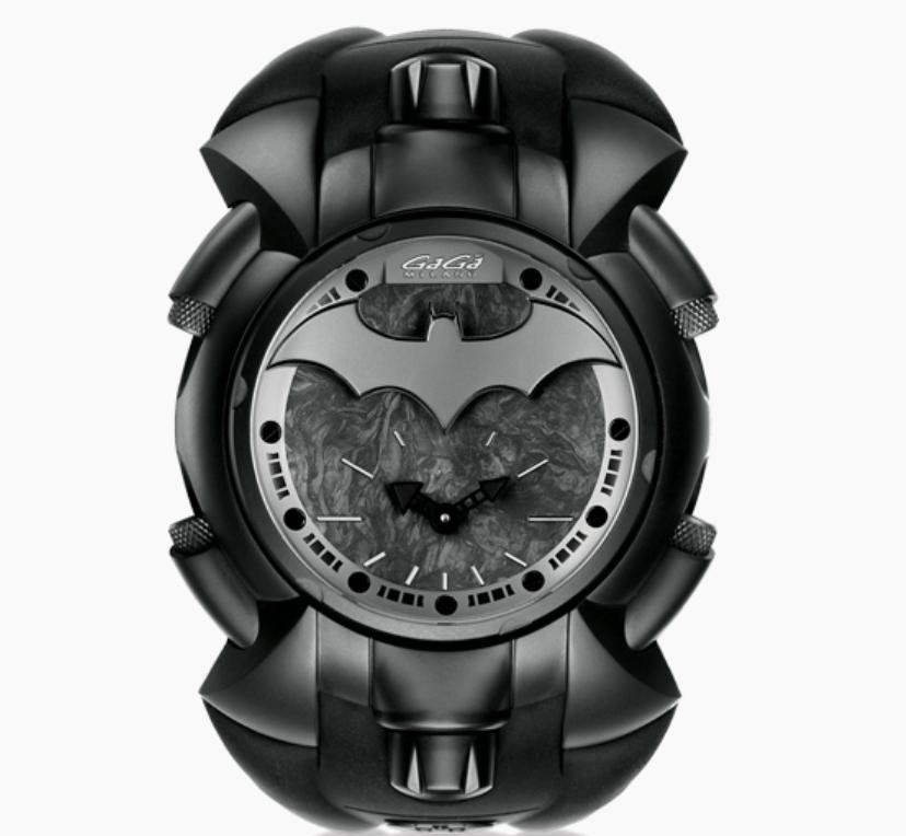Gaga Milano Batman 800 Limited Edition, Italian Watch, Luxury Watch, Black Watch, Elegant Watch