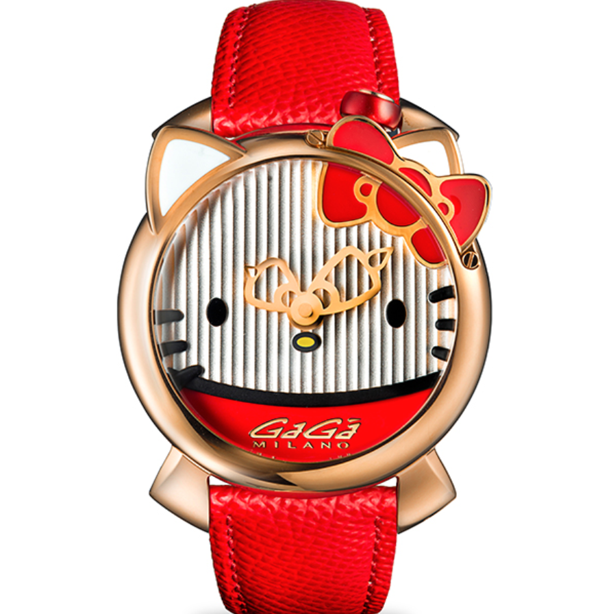 Gaga Milano Hello Kitty Limited Edition, Cartoon-themed Watch, Unique-looking Watch, Special-themed Watch