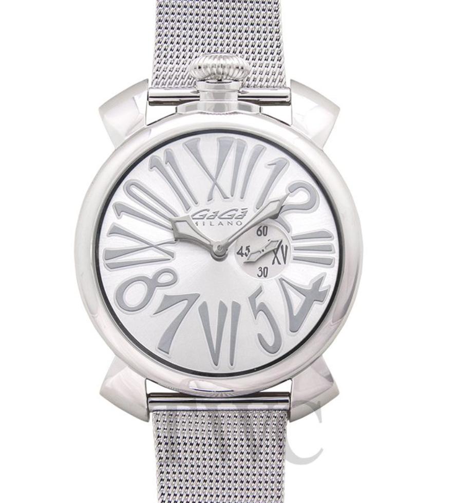 Gaga Milano Slim 46mm in Steel, Luxury Watch, Italian Watch, Elegant Watch, Fashionable Watch