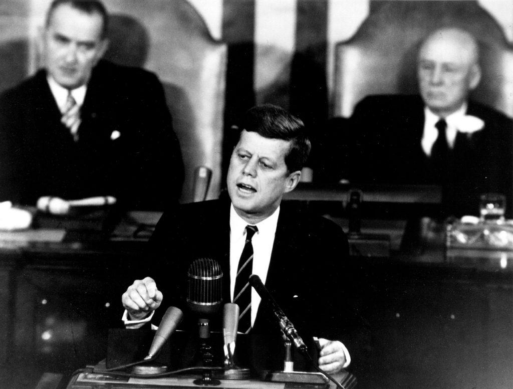 John F. Kennedy, Lyndon Johnson, President, US Congress, Speech