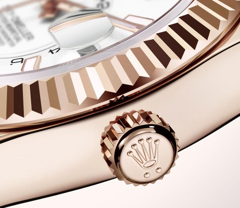 Rolex Logo Coronet Up Close