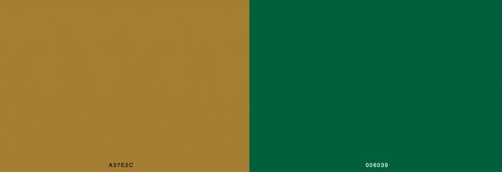 Rolex Logo Colour Scheme, Rolex Logo Design, Green Shade, Brown Shade