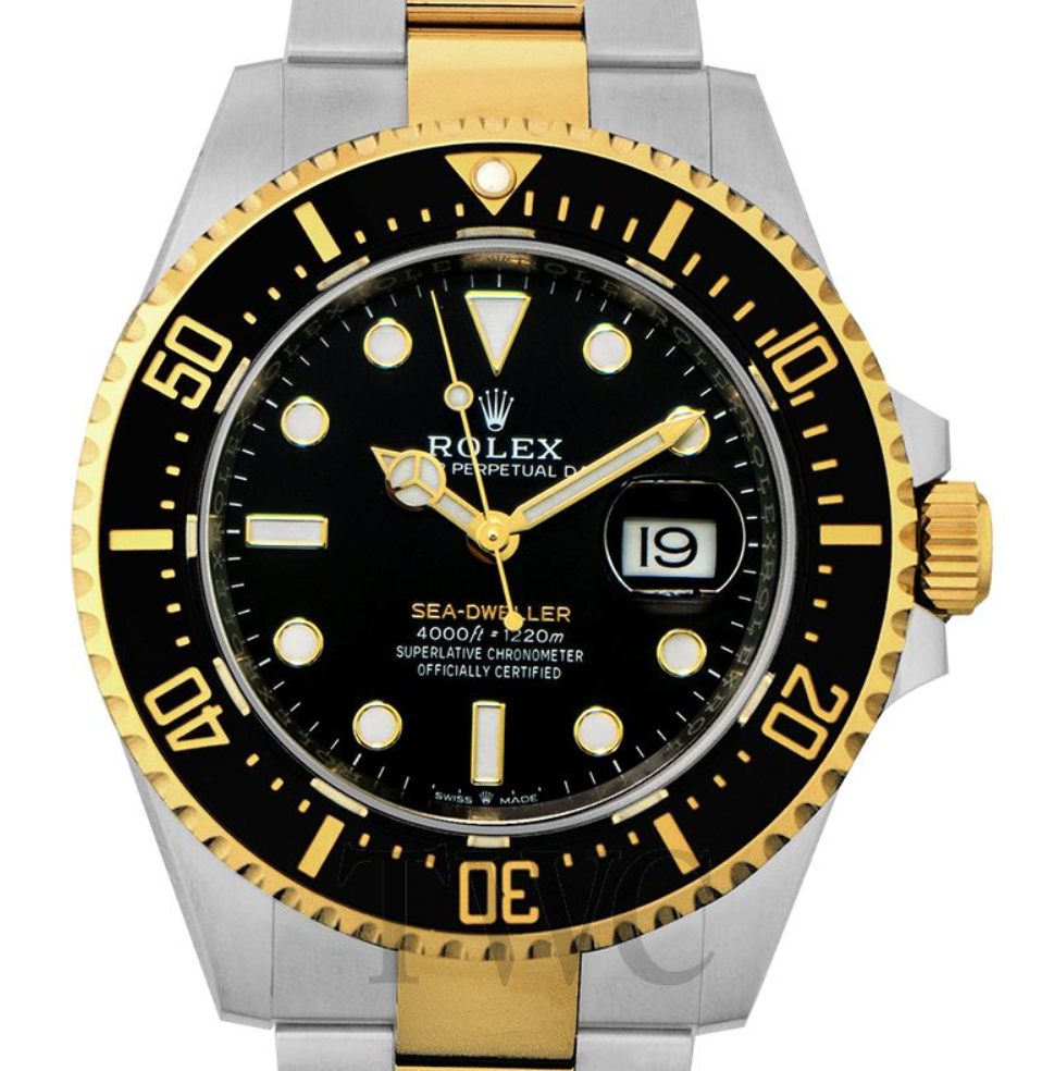 Rolex Sea-Dweller Oystersteel and 18K Yellow Gold, Luxury Watch, Swiss Watch, Date Display