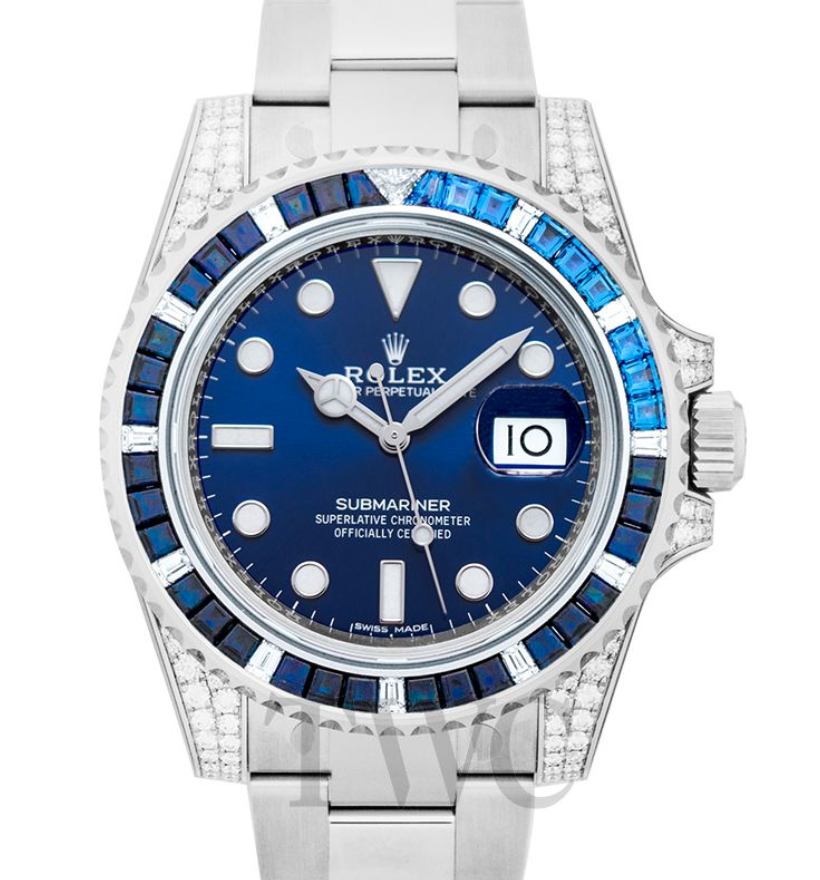 Rolex Submariner 18K White Gold & Diamond, Dive Watches for Women, Rolex Watches for Women