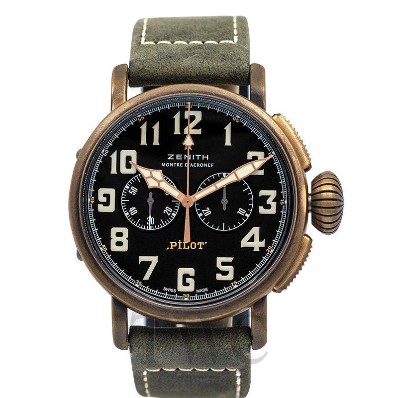 Zenith Pilot Watch, Luxury Watches For Men, Swiss Watch, Black Watch Face, Classic Design, Elegant Watch