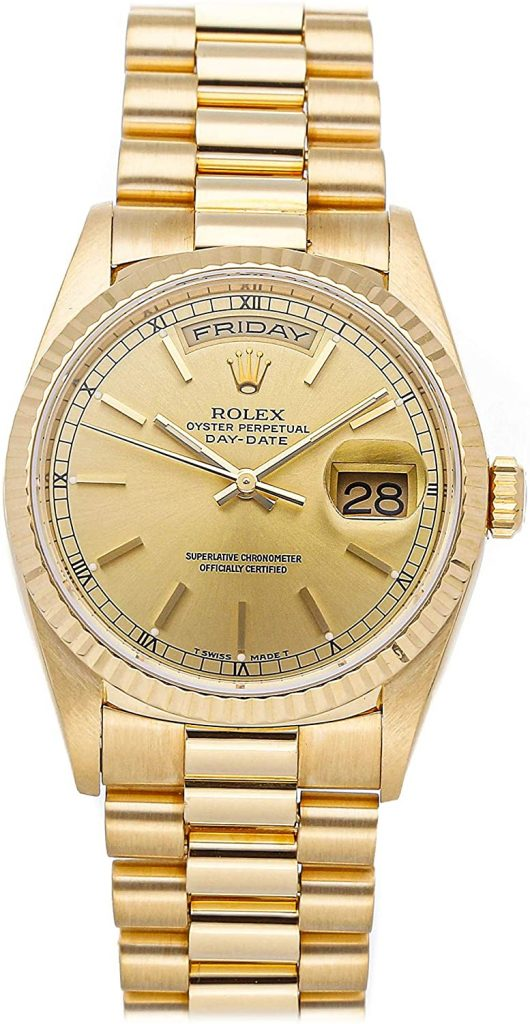 Rolex Day Date 18238, Rolex Day Date Champagne Dial, Swiss Watch, Date Display