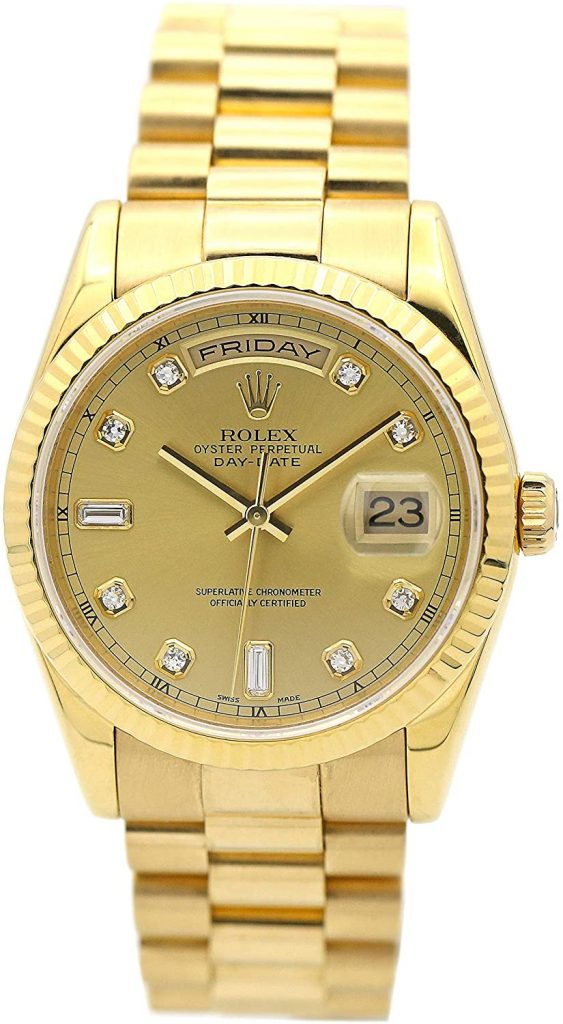 Rolex Day Date 1803, Rolex Day Date Champagne Dial, Luxury Watch, Swiss Watch