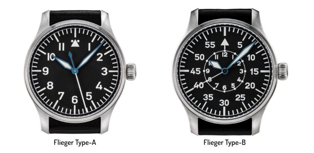 Flieger Type A & Type B, Flieger Watches