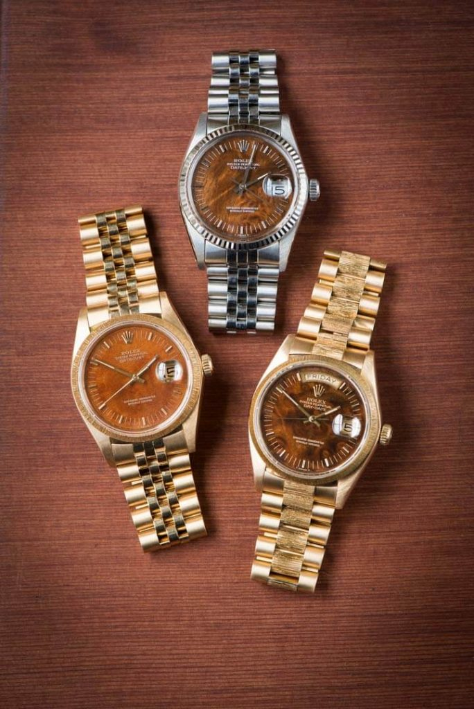 Rolex Wood Dials, Rolex Day Date, Swiss Watch, Steel Watch, Gold Watches