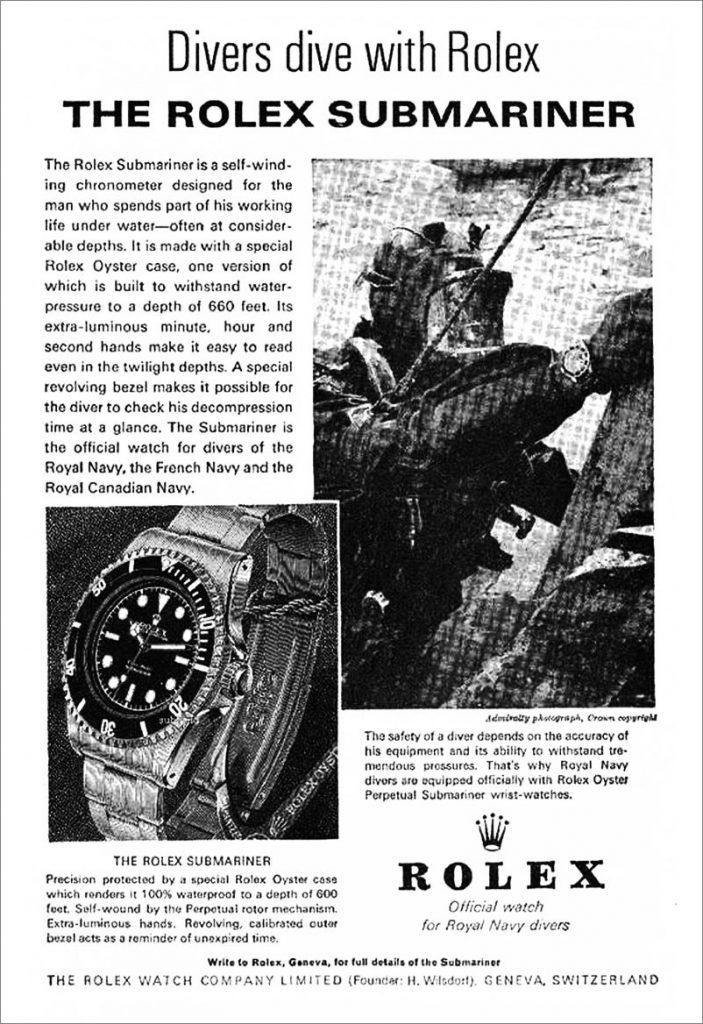 Rolex Submariner Ad, Rolex Submariner