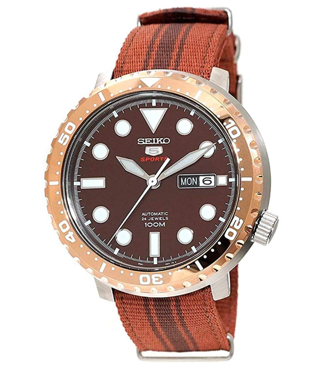 Seiko 5 Bottle Cap Root Beer, Seiko Affordable Watches