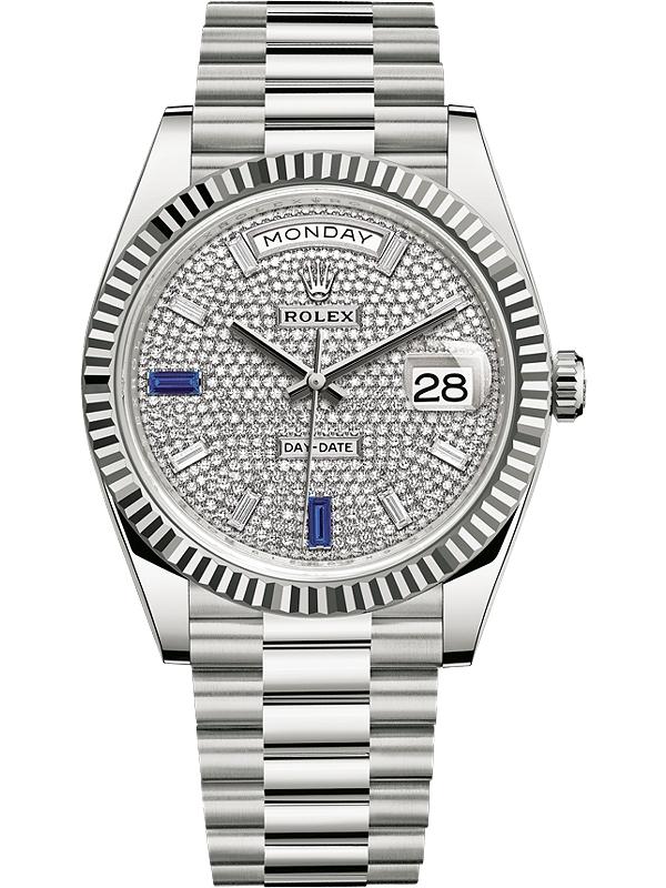 Rolex Day-Day 40mm White Gold & Diamonds, Rolex Presidential Watch
