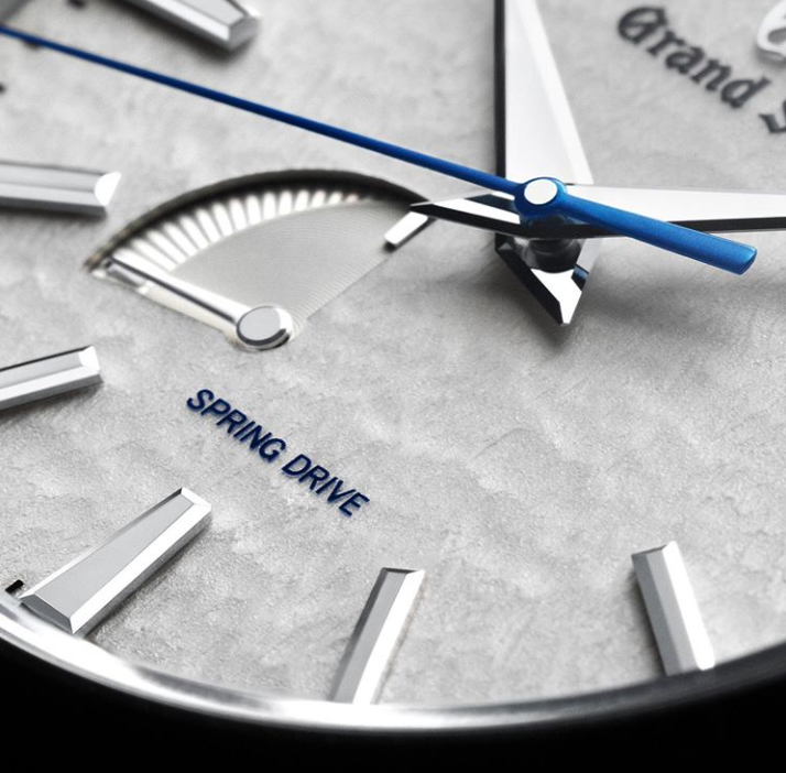 Grand Seiko Snowflake dial closeup