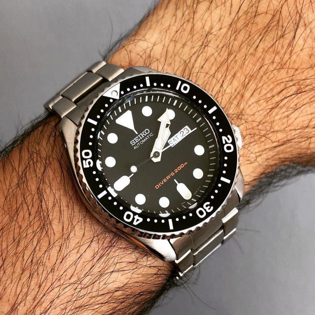 Seiko SKX007 on Wrist