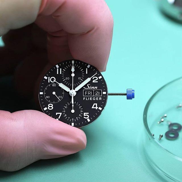 Sinn 356 Pilot Chronograph Watch' Dial