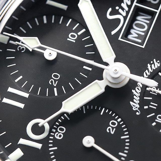 Sinn 356 Pilot Watch's Dial Up Close