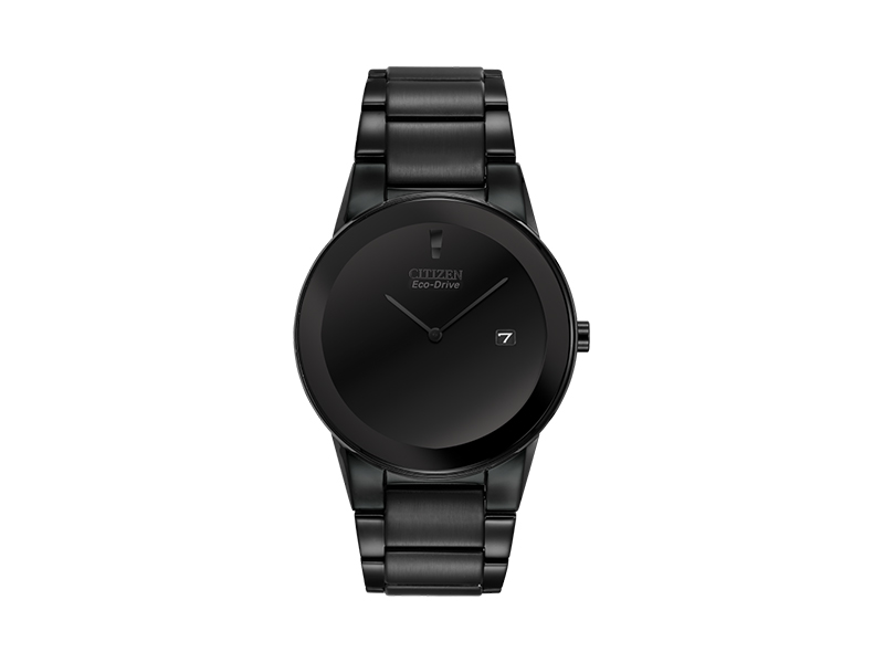 Citizen Men's Eco-Drive Black Ion-Plated Axiom Watch, AU1065-58E