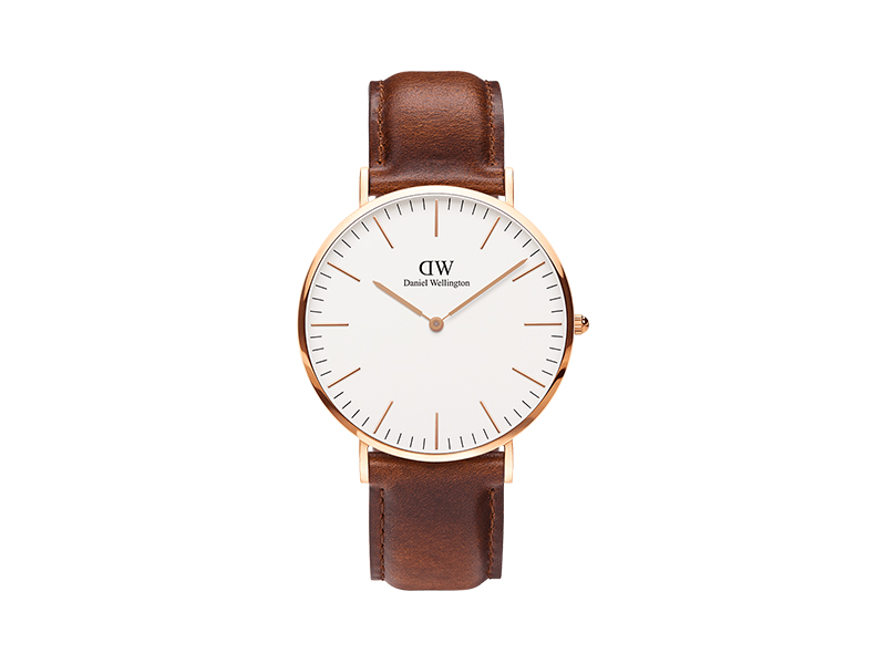 Daniel Wellington Classic Durham Watch, American Brown Leather Band